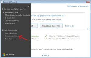 kontextvé menu upgrade win 10