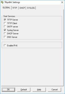 TFTP server nastavení