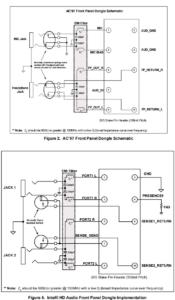 Zapojení HD audio a AC'97