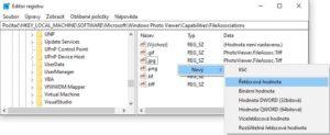 registrace připon pro Klasický prohlížeč ve Win 10