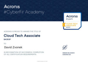 Acronis CyberFit Cloud Tech Associate Backup