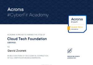 Acronis CyberFit Cloud Tech Foundation